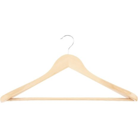 Вешалка деревянная для верхней одежды с антискользящей перекладиной (5шт.) Elfe