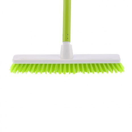 """Щетка пластмассовая """"Shrober"""" для чистки ковров 270 мм, c черенком, 120 см, D 22 мм Elfe"""