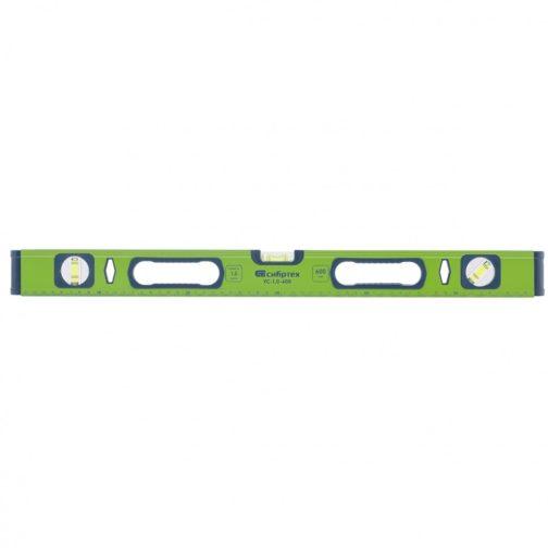 Уровень алюминиевый УС-1, 0-600, фрезерованный, 3 глазка, рукоятки, 600 мм Сибртех