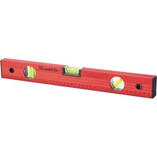 Уровень алюминиевый, 1500 мм, 3 глазка, красный, линейка Matrix