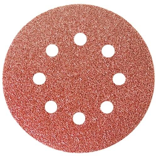 """Круг абразивный на ворсовой подложке под """"липучку"""", перфорированный, P 240, 125 мм,(5 шт) Matrix"""