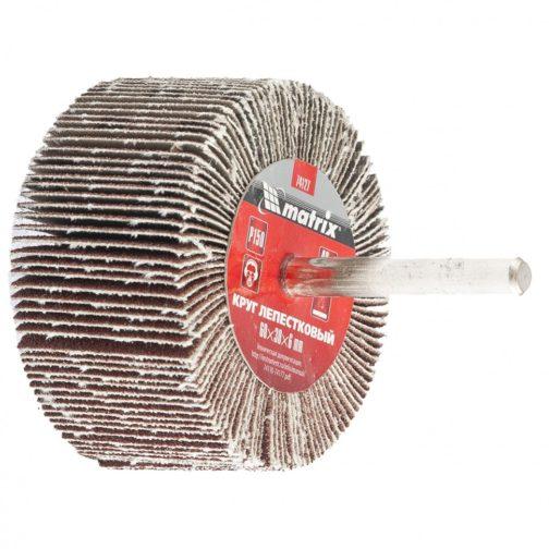 Круг лепестковый для дрели, радиальный Matrix 60х30х6  Р40