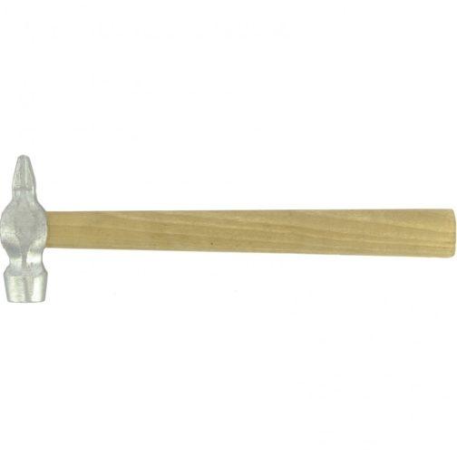 Молоток слесарный, круглый боек, деревянная рукоятка Россия, 600 г.