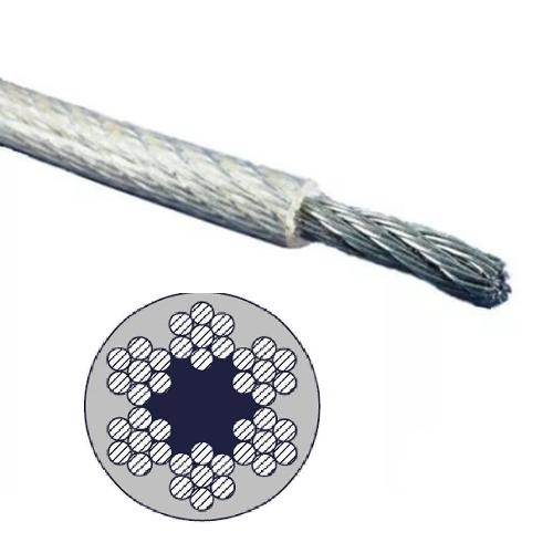 Трос оцинкованный DIN 3055 в ПВХ оплетке 1\2