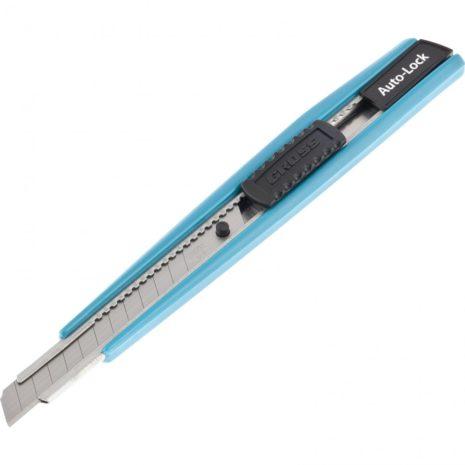 Нож, 145 мм, корпус ABS пластик, выдвижное сегментное лезвие 9 мм (SK-5), металлическая направляющая Gross