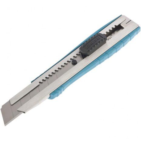 Нож, 195 мм, металлический корпус, выдвижное сегментное лезвие 25 мм (SK-5), металлическая направляющая, клипса для ремня Gross