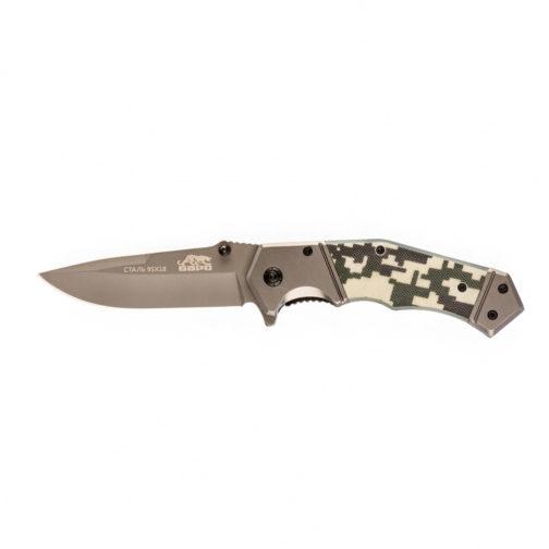 Нож туристический, складной, 203/90 мм, система Liner-Lock, с накладкой G10 на рукоятке Барс