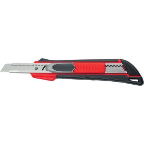 """Нож, 9 мм, выдвижное лезвие """"Quick blade"""" металлическая направляющая, двойная фиксация, эргономичная двухкомпонентная рукоятка Matrix"""