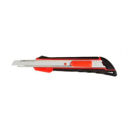 Нож, 9 мм, выдвижное лезвие, металлическая направляющая, эргономичная двухкомпонентная рукоятка Matrix