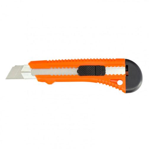 Нож, 18 мм, выдвижное лезвие, металлическая направляющая Sparta