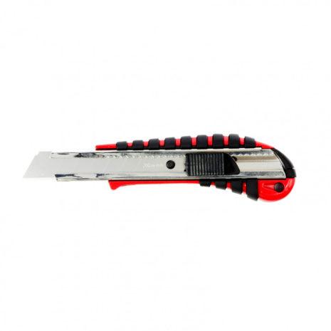 Нож, 18 мм, выдвижное лезвие металлическая направляющая, эргономичная двухкомпонентная рукоятка Matrix