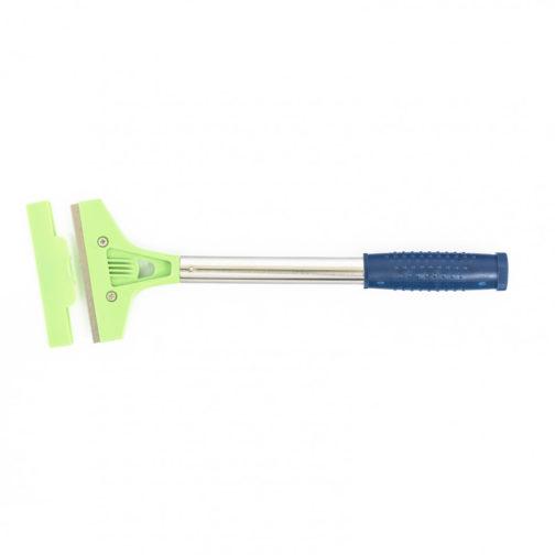 Скребок, фиксированное лезвие 100 мм, металлическая обрезиненная ручка, 250 мм Сибртех