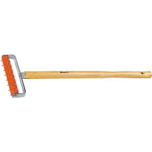 Валик для гипсокартона, 150 мм, игольчатый, деревянная ручка 500 мм Mtx