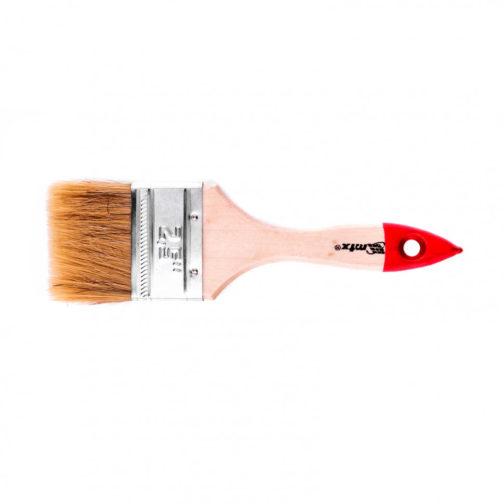 """Кисть плоская """"Стандарт"""" 2,5"""" (63 мм), натуральная щетина, деревянная ручка MTX 82535"""