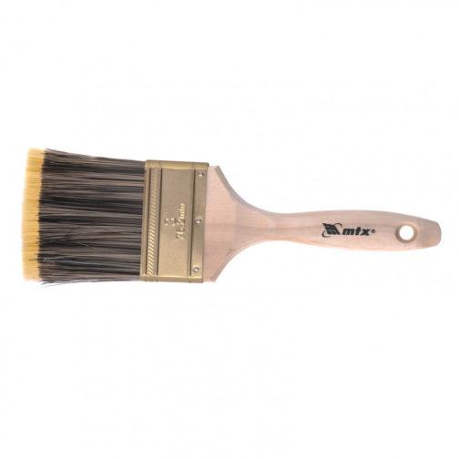 """Кисть плоская Golden 3.0"""", искусственная щетина, деревянная ручка Mtx 83226"""