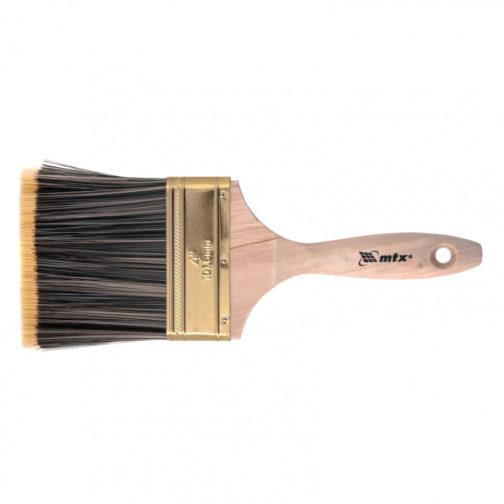 """Кисть плоская Golden 4"""", искусственная щетина, деревянная ручка MTX 83228"""