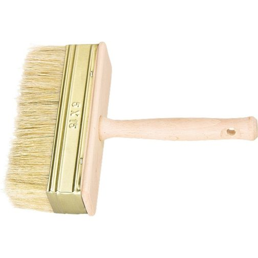 Кисть-ракля, 30 х 70 мм, натуральная щетина, деревянный корпус, деревянная ручка Россия 84070