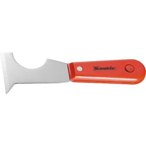 Шпатель-скребок стальной, пластмассовая ручка Matrix 85299