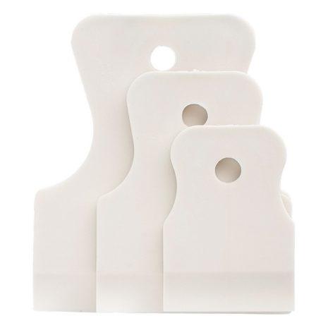 Набор шпателей 40-60-80 мм, белая резина, эластичный,3 шт,Россия Сибртех 85803