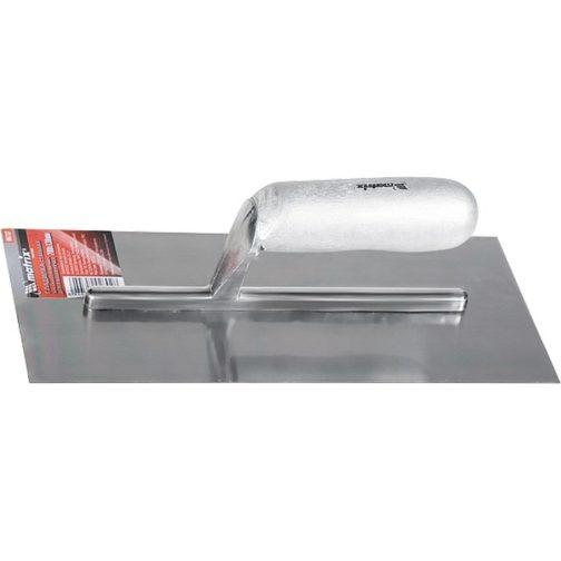 Гладилка стальная, 280 х 130 мм, зеркальная полировка, деревянная ручка Matrix 86732