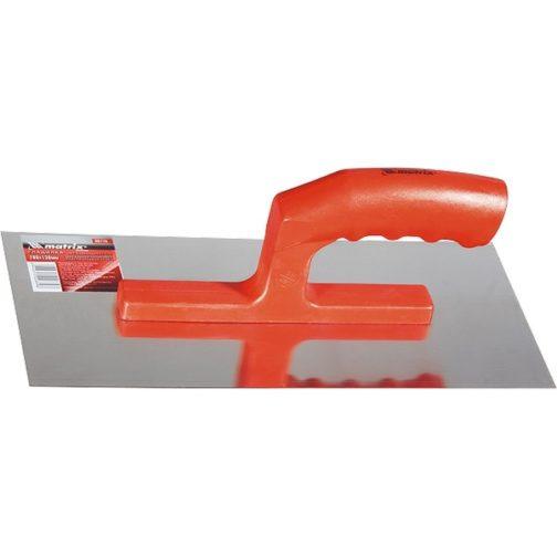 Гладилка стальная, 280 х 130 мм, зеркальная полировка, пластмассовая ручка Matrix 86774