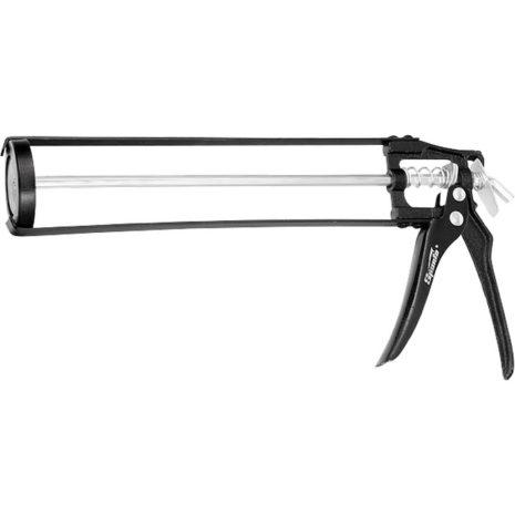 """Пистолет для герметика, 310 мл, """"скелетный"""", усиленный с фиксатором, шестигранный шток 7 мм Sparta 886125"""