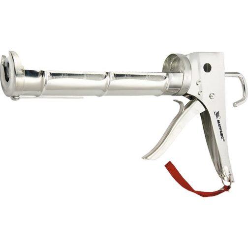 """Пистолет для герметика, 310 мл, """"полуоткрытый"""", хромированная, зубчатый шток 7 мм Matrix 88640"""