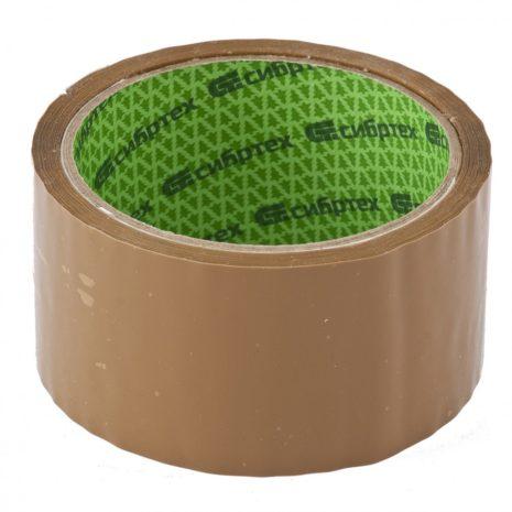 Клейкая лента, 36 мм х 40 м, цвет коричневый Сибртех 88842