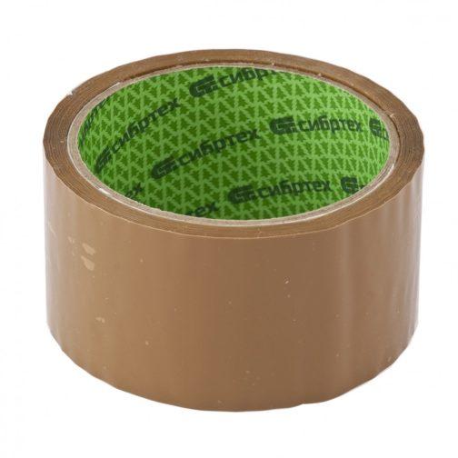 """Клейкая лента """"Эксперт"""", 45 мкм, 48 мм х 60 м, цвет коричневый Сибртех 88724"""