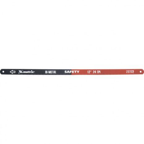 Полотна для ножовки по металлу, 300 мм, 24 TPI, биметаллическое, 2 шт Matrix