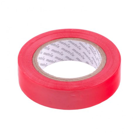 Изолента ПВХ, 15 мм х 10 м, красная, 150 мкм Matrix 88772