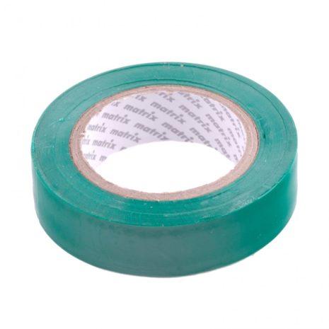 Изолента ПВХ, 15 мм х 10 м, зеленая, 150 мкм Matrix 88774