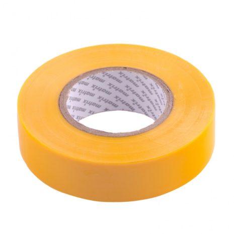 Изолента ПВХ, 19 мм х 20 м, желтая, 150 мкм Matrix 88780