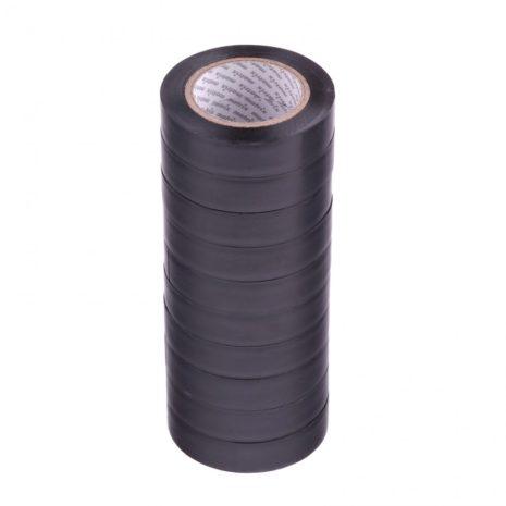 Набор изолент ПВХ 15 мм х 10 м, черная, в упаковке 10 шт, 150 мкм Matrix 88785