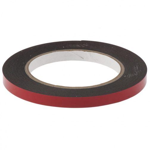 Лента клейкая на вспененной основе, двусторонняя черная усиленная, 9 мм х 5 м Matrix 89082