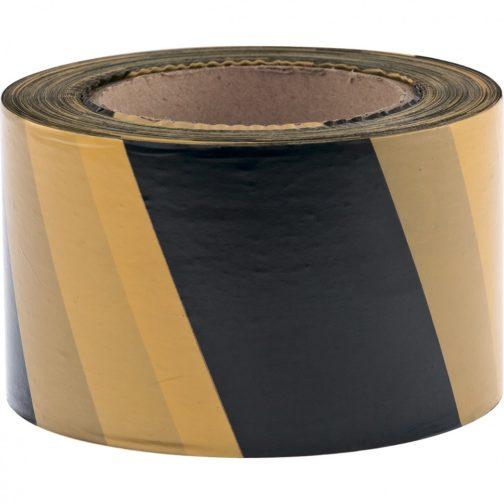 Лента сигнальная, 50 мм х 200 м, черно-желтая Россия Сибртех 89033