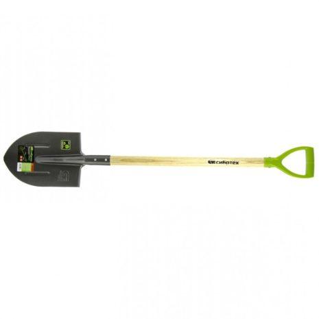 Лопата штыковая, 210 x 290 x 1150 мм, деревянный лакированный черенок Сибртех 61479