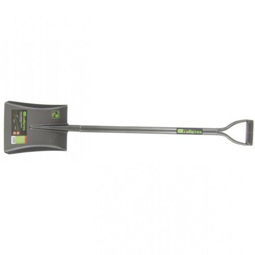 Лопата совковая, 245 x 295 x 1150 мм, цельнометаллическая Сибртех 61473