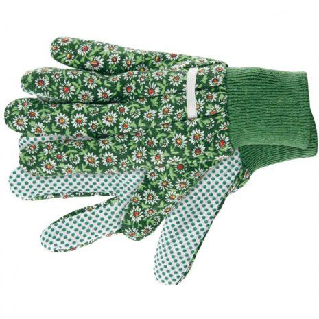 Перчатки садовые х/б ткань с ПВХ точкой, манжет, L Palisad 67763