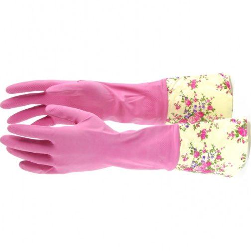 Перчатки хозяйственные, латексные с манжетой, M Elfe 67890