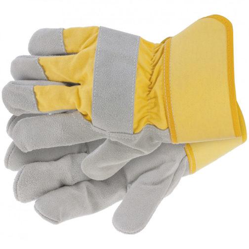 Перчатки спилковые комбинированные, усиленные, размер XL Сибртех 67902