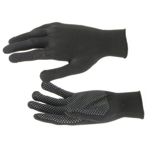 Перчатки Нейлон, ПВХ точка, 13 класс, черные, XL Россия 67848