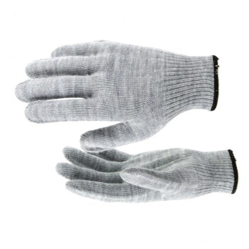 Перчатки трикотажные, акрил, серая туча, оверлок Россия Сибртех 68652