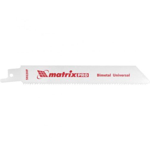 Полотна универсальные для сабельной пилы S922VF, 125/1,8-2,5 мм, Bimetal, 2 шт, Pro Matrix