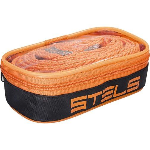 Трос буксировочный 2,5 т, 2 крюка, сумка на молнии Россия Stels 54377