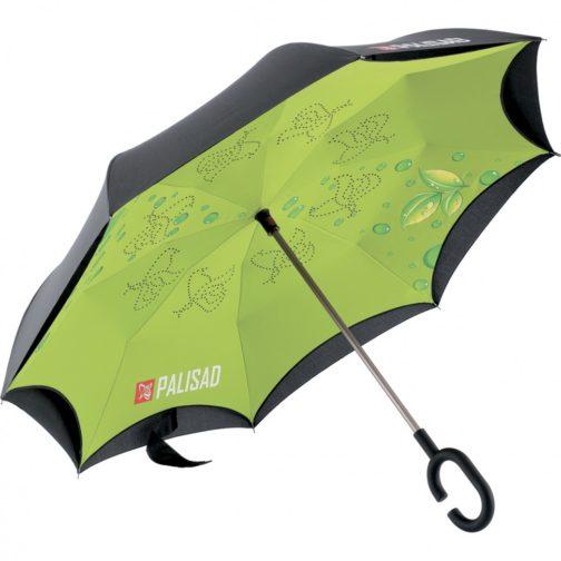 Зонт-трость обратного сложения, эргономичная рукоятка с покрытием Soft ToucH Palisad 69701