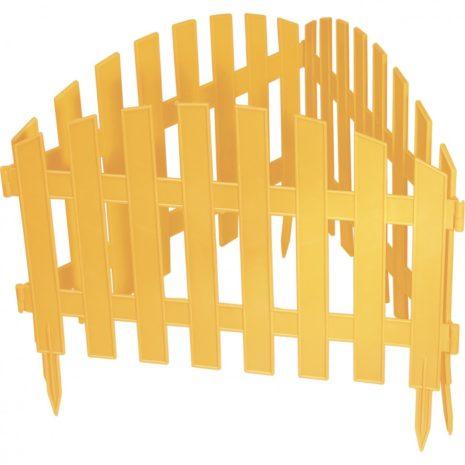 "Забор декоративный ""Винтаж"" 28 x 300 см, желтый Россия Palisad 65010"