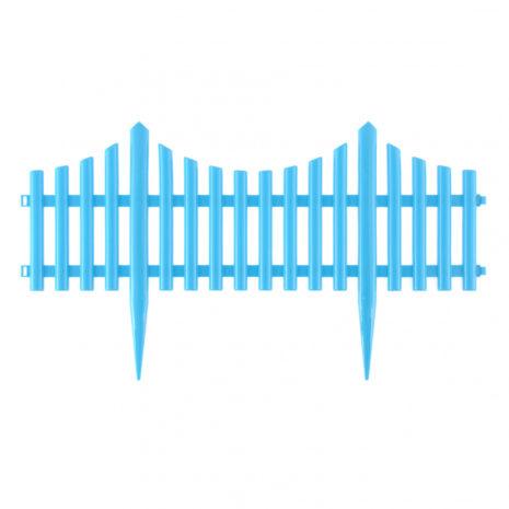 """Забор декоративный """"Гибкий"""", 24 x 300 см голубой Palisad 65019"""