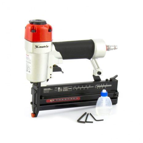 Нейлер-степлер пневматический 2 в 1, гвозди 18GA длина 10-50 мм, скобы 18GA длина 13-40 мм Matrix 57426