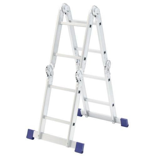 Лестница шарнирная алюминиевая, 4 х 2 ступени, Россия, Сибртех 97879